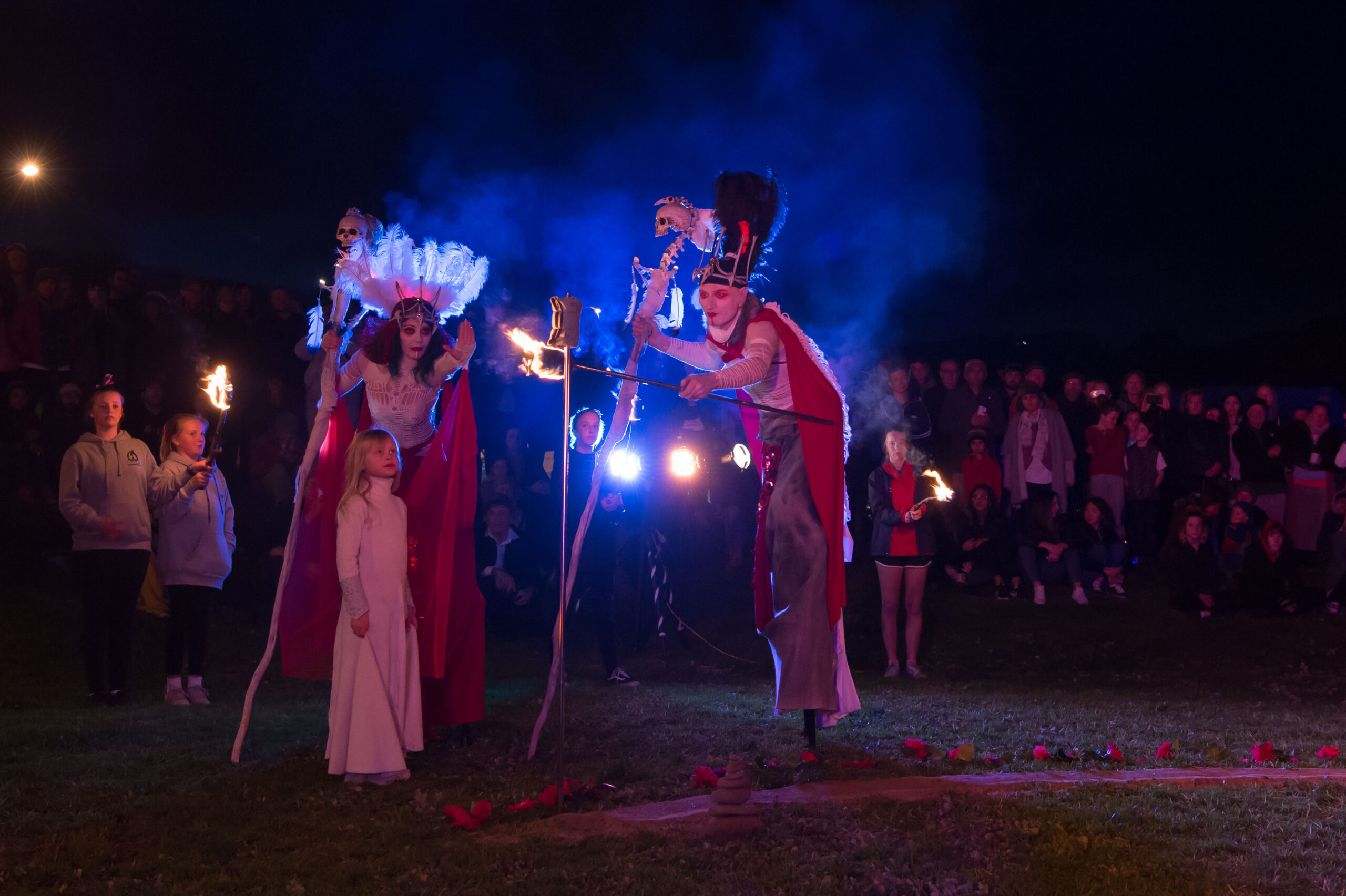 High Priest and High Priestess at WinterWild Festival  Image Credit - Ray Yeo