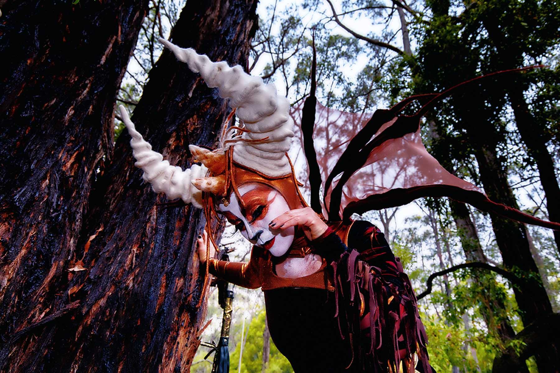 The Chimera & the Wishing Tree - Pop Up Installation, Street Walk, and Live Stream